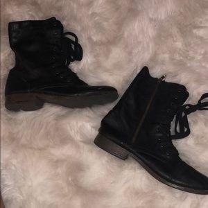 NEW — black combat boots